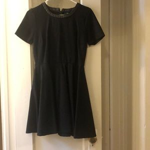 Madewell black pleated dress
